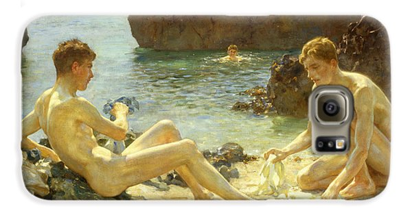 The Sun Bathers Galaxy S6 Case by Henry Scott Tuke