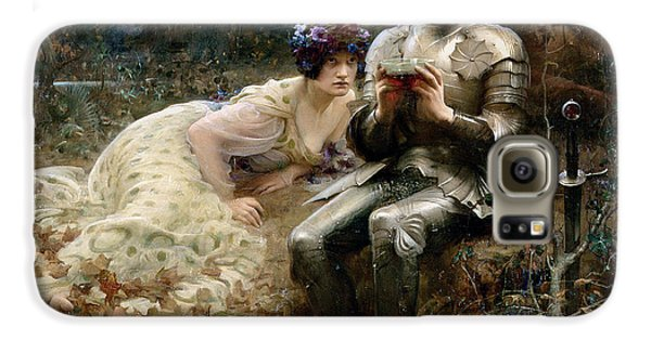 The Temptation Of Sir Percival Galaxy S6 Case by Arthur Hacker