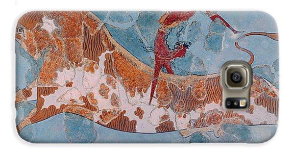 The Toreador Fresco, Knossos Palace, Crete Galaxy S6 Case by Greek School