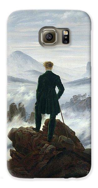 The Wanderer Above The Sea Of Fog Galaxy S6 Case by Caspar David Friedrich