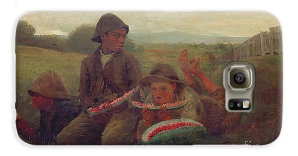 The Watermelon Boys Galaxy S6 Case by Winslow Homer