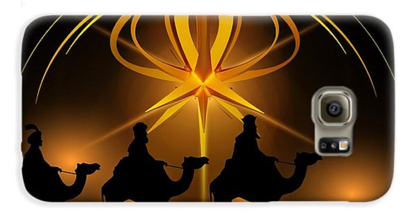 Three Wise Men Christmas Card Galaxy S6 Case by Bellesouth Studio