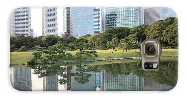 Tokyo Skyline Reflection Galaxy S6 Case by Carol Groenen