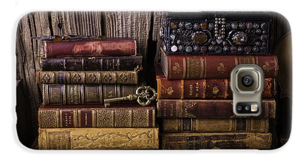 Treasure Box On Old Books Galaxy S6 Case by Garry Gay