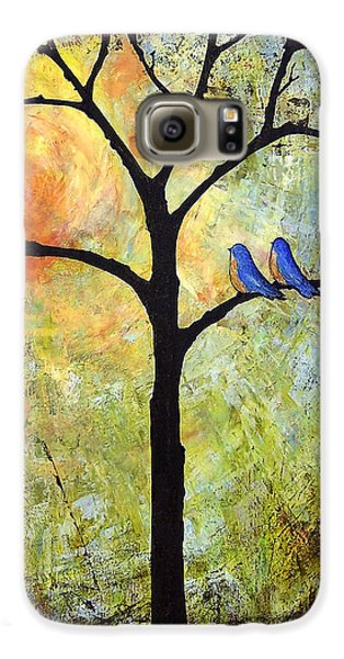 Tree Painting Art - Sunshine Galaxy S6 Case by Blenda Studio