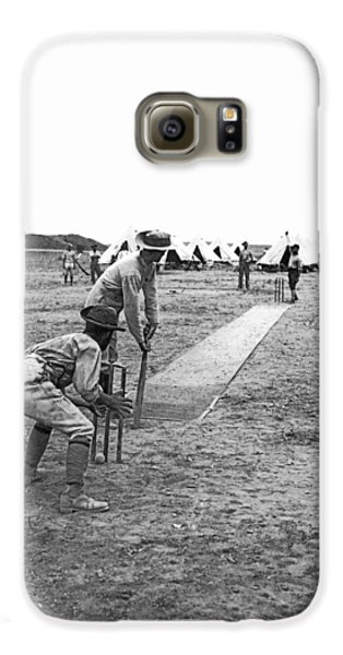 Troops Playing Cricket Galaxy S6 Case by Underwood Archives