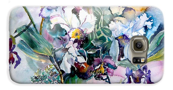 Tropical White Orchids Galaxy S6 Case by Mindy Newman