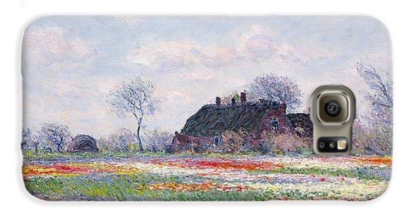 Tulip Fields At Sassenheim Galaxy S6 Case by Claude Monet