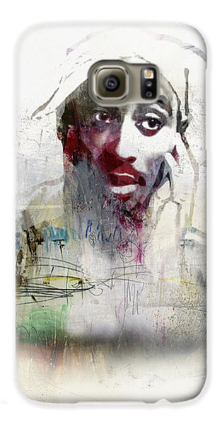 Tupac Graffitti 2656 Galaxy S6 Case by Jani Heinonen