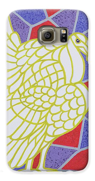 Turkey On Stained Glass Galaxy S6 Case by Pat Scott