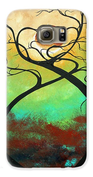 Twisting Love II Original Painting By Madart Galaxy S6 Case by Megan Duncanson