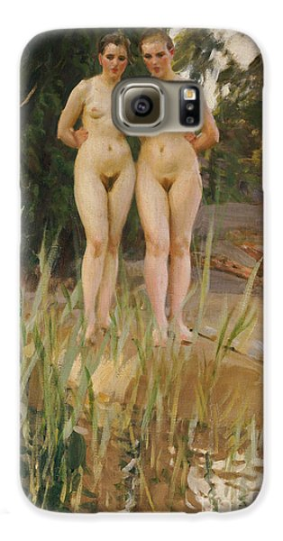 Two Friends  Galaxy S6 Case by Anders Leonard Zorn