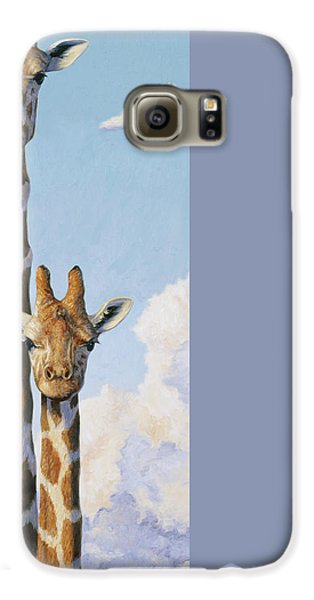 Two Heads In The Clouds Galaxy S6 Case by Lucie Bilodeau