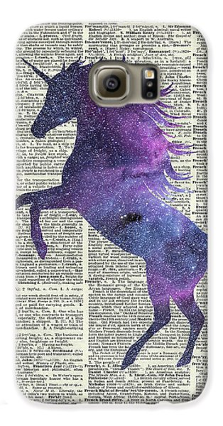 Unicorn In Space Galaxy S6 Case by Jacob Kuch