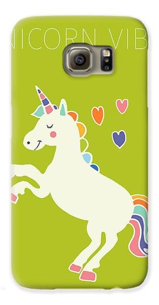 Unicorn Vibes Galaxy S6 Case by Nicole Wilson