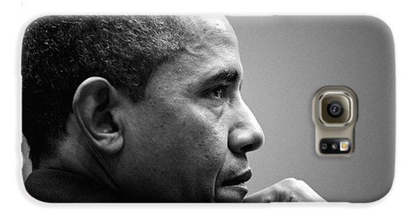 United States President Barack Obama Bw Galaxy S6 Case by Celestial Images
