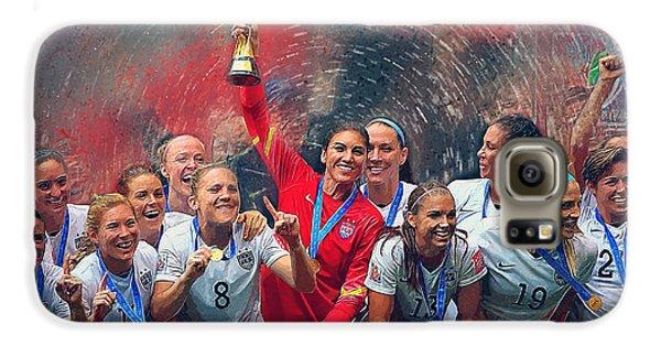 Us Women's Soccer Galaxy S6 Case by Semih Yurdabak