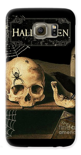Vanitas Skull And Raven Galaxy S6 Case by Striped Stockings Studio