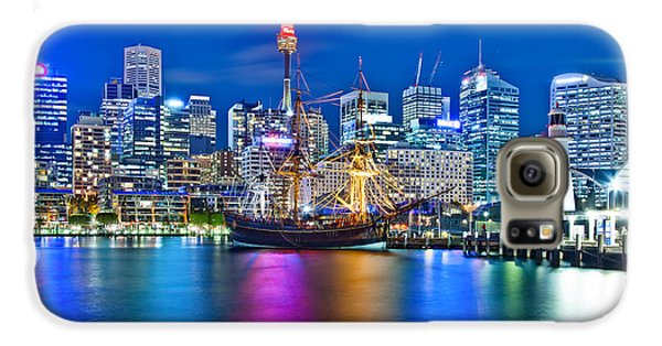 Vibrant Darling Harbour Galaxy S6 Case by Az Jackson