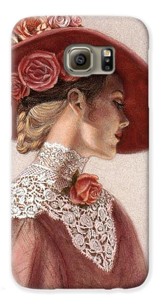 Victorian Lady In A Rose Hat Galaxy S6 Case by Sue Halstenberg