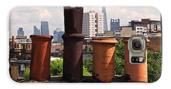 Victorian London Chimney Pots Galaxy S6 Case by Rona Black