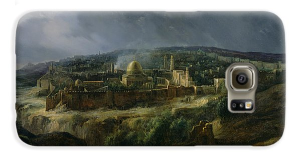 View Of Jerusalem From The Valley Of Jehoshaphat Galaxy S6 Case by Auguste Forbin