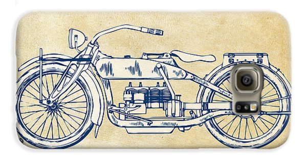 Vintage Harley-davidson Motorcycle 1919 Patent Artwork Galaxy S6 Case by Nikki Smith