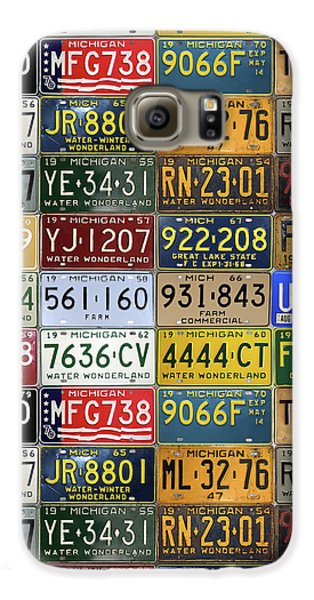 Vintage License Plates From Michigan's Rich Automotive Past Galaxy S6 Case by Design Turnpike