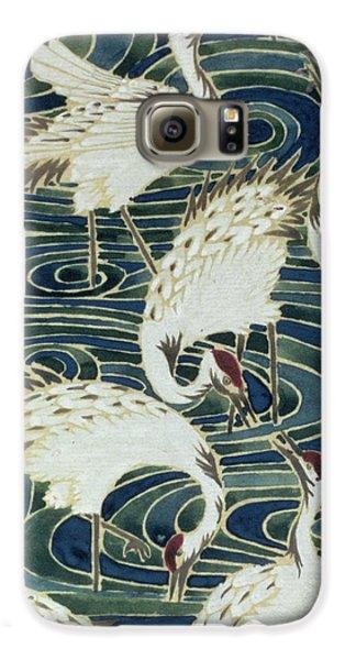 Vintage Wallpaper Design Galaxy S6 Case by English School