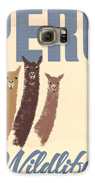 Vintage Wild Life Travel Llamas Galaxy S6 Case by Mindy Sommers