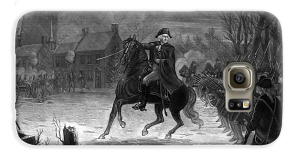 Washington At The Battle Of Trenton Galaxy S6 Case by War Is Hell Store