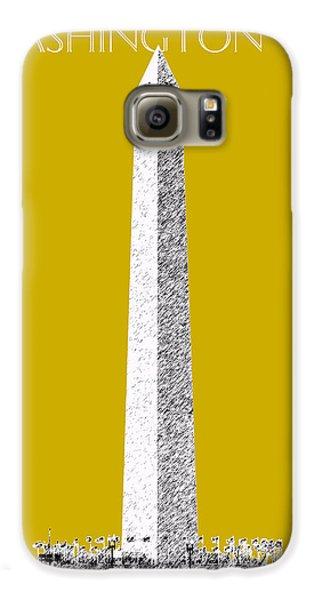 Washington Dc Skyline Washington Monument - Gold Galaxy S6 Case by DB Artist