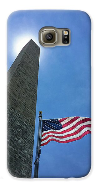 Washington Monument Galaxy S6 Case by Andrew Soundarajan