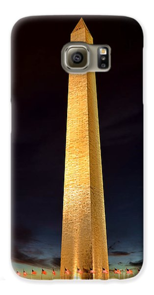 Washington Monument At Night  Galaxy S6 Case by Olivier Le Queinec