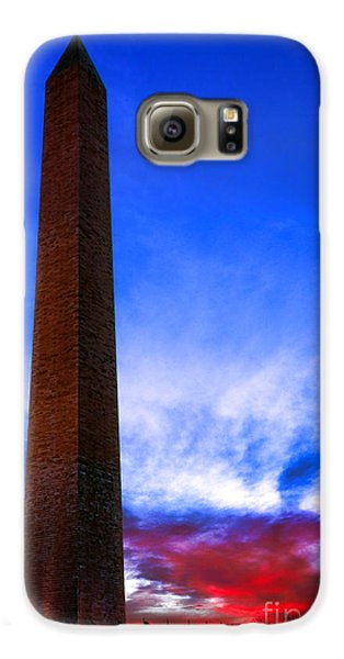 Washington Monument Glory Galaxy S6 Case by Olivier Le Queinec
