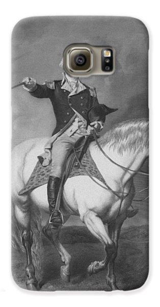 Washington Receiving A Salute At Trenton Galaxy S6 Case by War Is Hell Store