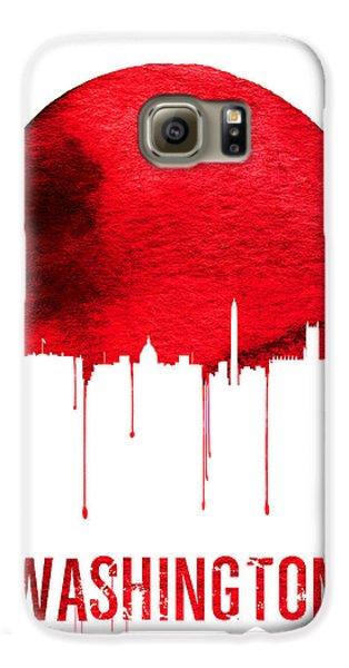 Washington Skyline Red Galaxy S6 Case by Naxart Studio