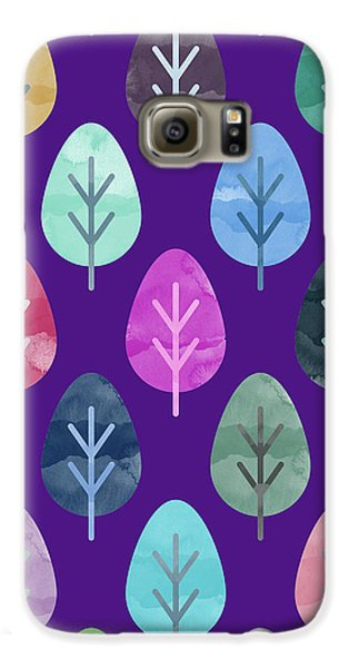 Watercolor Forest Pattern II Galaxy S6 Case by Amir Faysal