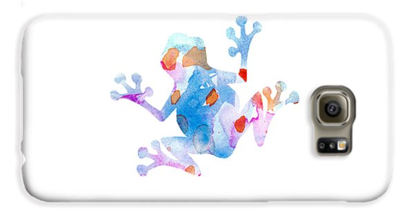 Watercolor Frog Galaxy S6 Case by Nursery Art