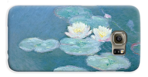 Waterlilies Evening Galaxy S6 Case by Claude Monet