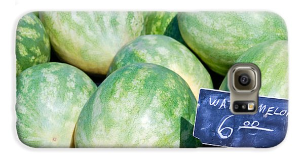 Watermelons With A Price Sign Galaxy S6 Case by Paul Velgos