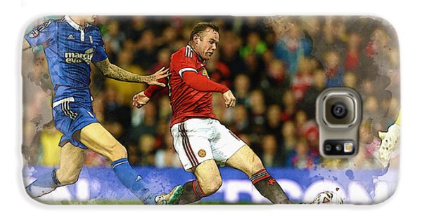 Wayne Rooney Of Manchester United Scores Galaxy S6 Case by Don Kuing