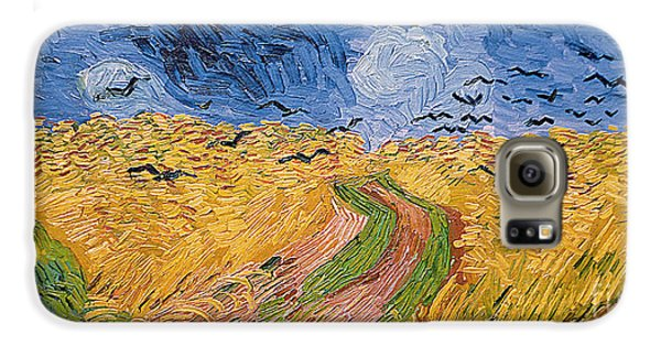 Wheatfield With Crows Galaxy S6 Case by Vincent van Gogh