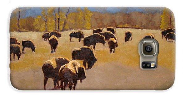 Where The Buffalo Roam Galaxy S6 Case by Tate Hamilton