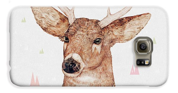 White Tailed Deer Square Galaxy S6 Case by Animal Crew