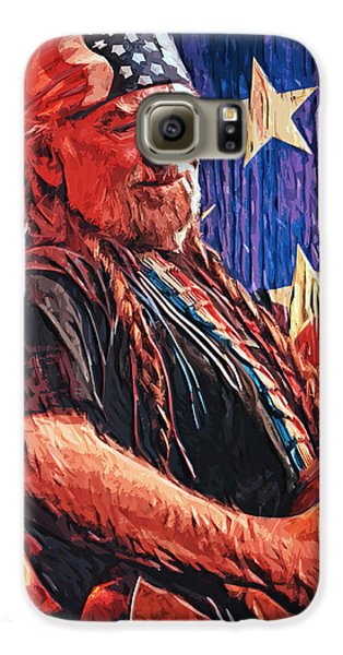 Willie Nelson Galaxy S6 Case by Taylan Apukovska