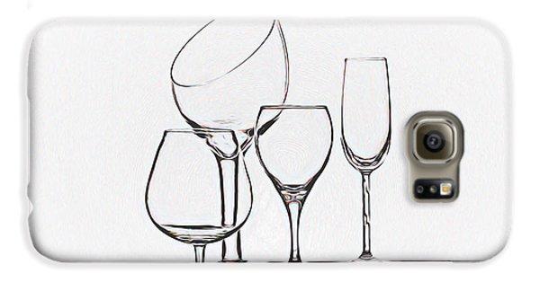 Wineglass Graphic Galaxy S6 Case by Tom Mc Nemar