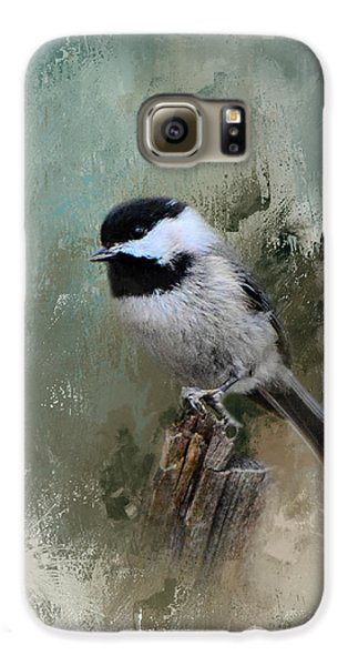 Winter Chickadee Galaxy S6 Case by Jai Johnson