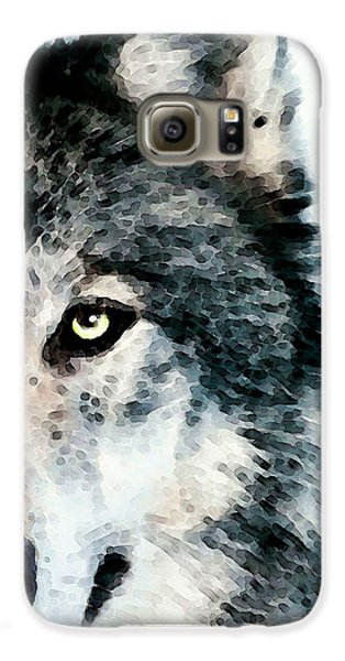 Wolf Art - Timber Galaxy S6 Case by Sharon Cummings