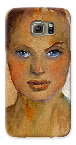 Woman Portrait Sketch Galaxy S6 Case by Svetlana Novikova